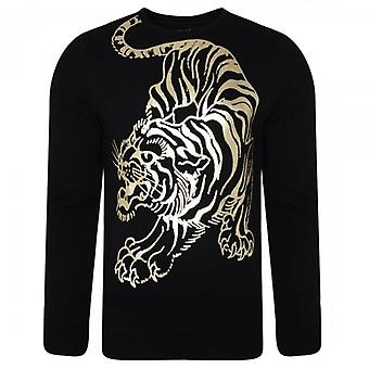 Ed Hardy Tiger Giant Crew Neck Sweatshirt Black ED1267