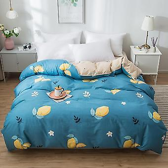 dual-sided Duvet Cover  soft Comfortable Cotton Printing Comforter -textiles Quilt Cover set 8