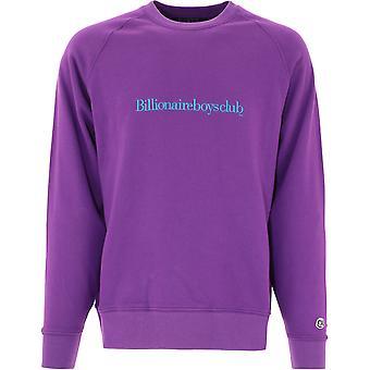 Billionaire B20351purple Men's Purple Cotton Sweatshirt