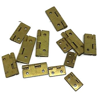Clock case hinges assorted small 12 pieces