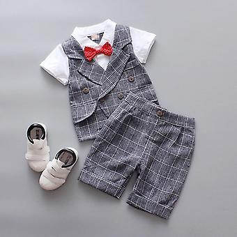 3pcs Summer Baby Blazers Suits Set