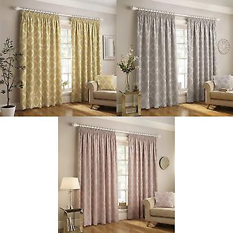 Paoletti Olivia Pencil Pleat Curtains