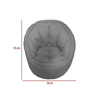 Rebecca Furniture Armchair To Fill Pouf Empty Polyester Grey 70x75x75