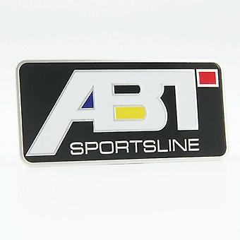 Musta ABT Sportsline Badge Volkswagen VW taka boot tunnus 90mm x 40mm