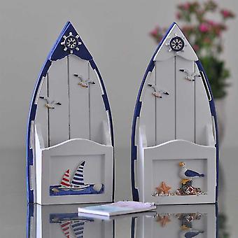 Kirjeiden säilytyslaatikko Välimeren tyyliin, luova kotitalous Kirjekuori