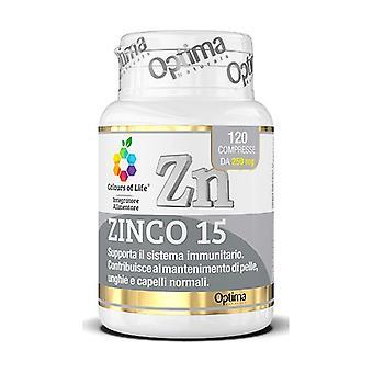 Zinc 15 120 tablets of 250mg