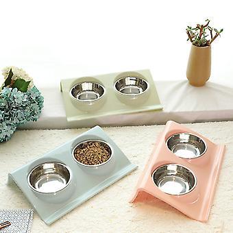 Domáce zvieratá Double Feeder Bowls Food Water Feeder for Dog Puppy Cats Pets Potreby kŕmenie riadu