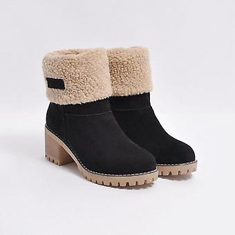 Winter Flock Warm Martinas Ankle Short Bootie Outside Shoes