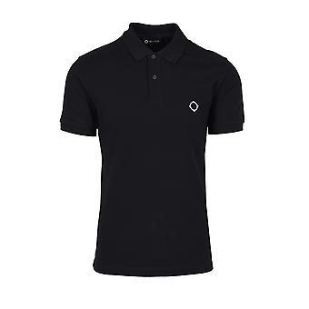 MA.STRUM Ma.strum Ss Pique Polo Shirt Jet Black