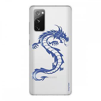 Runko Samsung Galaxy S20 Fe silikoni pehmeä 1 mm, sininen lohikäärme