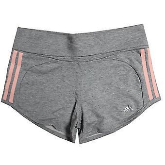 Adidas Sports Ess 3 Strip Shorts Cotton Youth Kids Girls Grey F79759 DD18