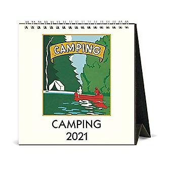 Cavallini & Co Camping Desk Calendar 2021