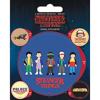 Pegatinas de Arcade de vinilo Stranger Things (paquete de 5)