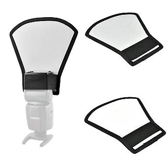 Phot-r professional universal silver and white flash reflector diffuser for flashguns