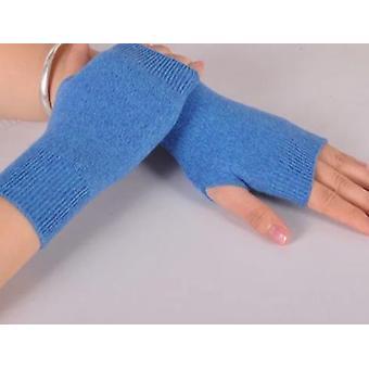 Wool Mitt Exposed Finger Women's Gloves Winter Autumn Knitted