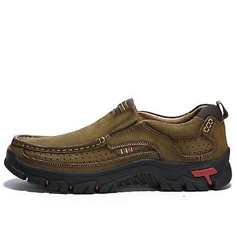 Men Hiking Shoes Comfortable First Layer Cowhide Leather Outdoor Breathable