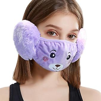 Nieuwe Winter Earmuffs Velvet Cartoon Earmuff Masker