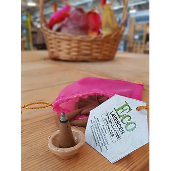 Natural Incense Cones With Holder – Sandalwood, Lavender, Oudh, Musk