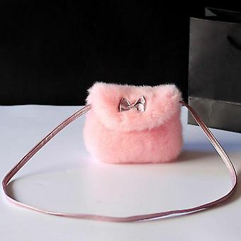 Cute Kids,, Mini Bowknot Crossbody Bags, Soft Fur, Handbags Bag, Purse