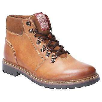 Base Fawn Burnished Mens Leather Formal Boots Tan UK Size