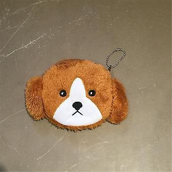 Sød plys hund pung, nøglering vedhæng taske