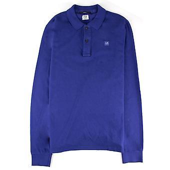 CP Company Cp Company Long Sleeve Polo Slim Fit Elec Blue
