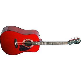Oscar schmidt og2tr-a-u guitare acoustique - trans rouge