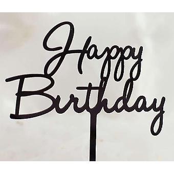 Hand Writing Happy Birthday Cake Topper Dessert Decoration