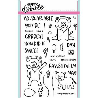Heffy Doodle Ad-roar-able Lions Clear Stamps