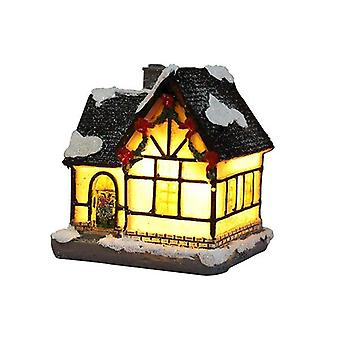 Joulukoriste nasta pieni talo