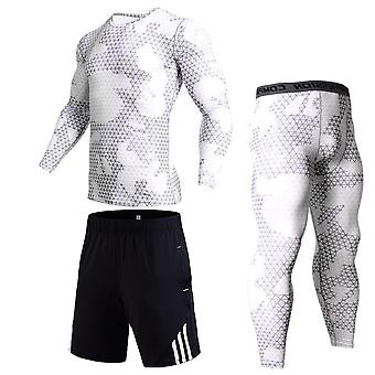 Running Shirt Men Pants, Tracksuit Leggings Sports Fitness Workout Set