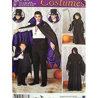 Yksinkertaisuus Ompelu kuvio 0786 1349 Miesten Pojat Dracula Capes Koko S-L S-XL Leikkaamaton