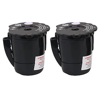 2 x Coffee Machine Filter Basket Style for K200 Black for Coffee Pot