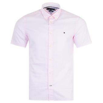 Tommy Hilfiger Travel Slim Fit Short Sleeve Oxford Shirt - Light Pink