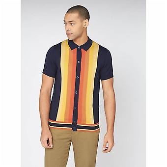 Ben Sherman Button durch Mod Polo Shirt - dunkle Marine