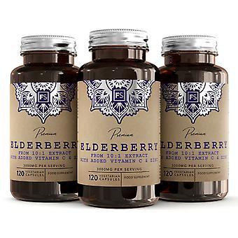 Elderberry Sambucus (3000mg) with Vitamin C & Zinc 120 Capsules