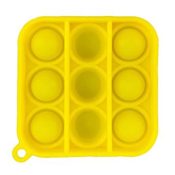 الاشياء المعتمدة® البوب سلسلة المفاتيح - تململ مكافحة الإجهاد لعبة لعبة لعبة سيليكون مربع الأصفر