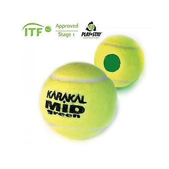 كاراكال منتصف كرة التنس الخضراء ال ITF وافق الضغط المنخفض وترتد الكرة - 1 دزينة