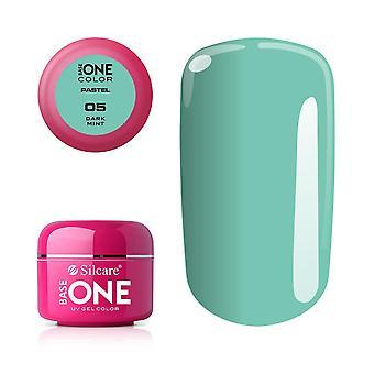 Base one - UV Gel - Pastel Shades - Dark Mint - 05 - 5 gram
