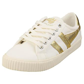 Gola Tennis Mark Cox Womens Casual Trainers in Off White Gold