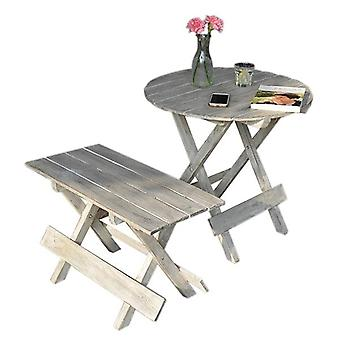 Portable Outdoor Folding Side Table And Chair Set