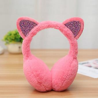 Meisje Earmuffs, Glanzend, Warmers Kitty Fur Earlap