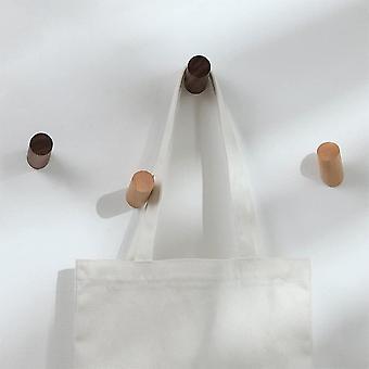 FengChun Hlzern Kleiderhaken Kleiderablage fr Stoffhut Tasche Dekoration Eingang-4 Stck Buche