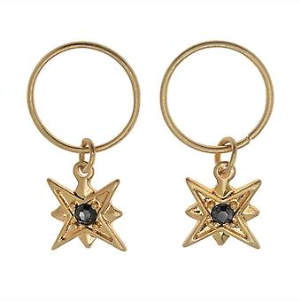 Zola Elements Charm, North Star med Crystal 12x10mm, 2 Pieces, Satin Gold Tone