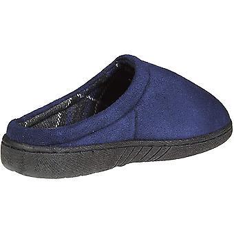 Skysole Kids Boys Micro Suede Plaid Clogs Slippers (Ver tamanhos de cores)