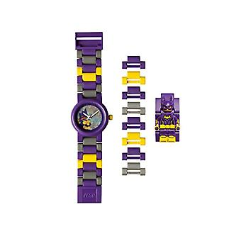 LEGO 8020844 Batman Movie Modulair polshorloge voor kinderen met paars/gele Batgirl minifiguur met refdiameter. 5060286802113