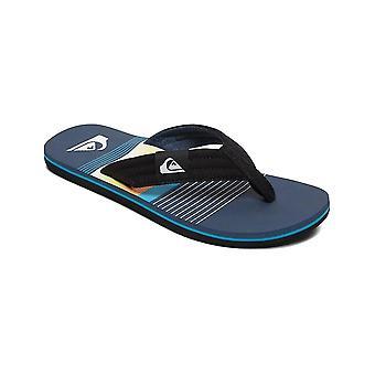 Quiksilver Molokai Layback Flip Flops i svart / blå / svart