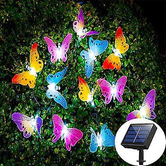 Luce a corda farfalla a energia solare a led