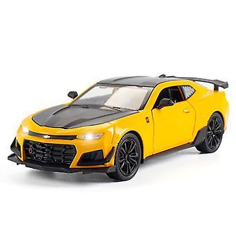 1/24 Legierung die gegossen Sportwagen Modell Sound Light Zurück Sammlung Spielzeug für Kinder Geschenke (gelb)