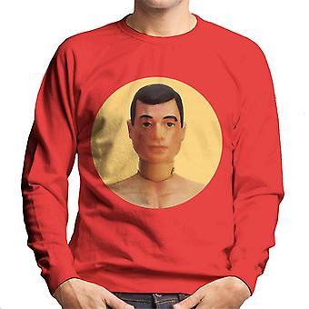 Action Man Character Head Men's Sweatshirt